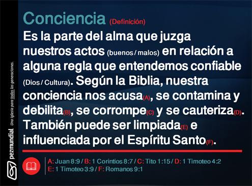 Definición bíblica de conciencia