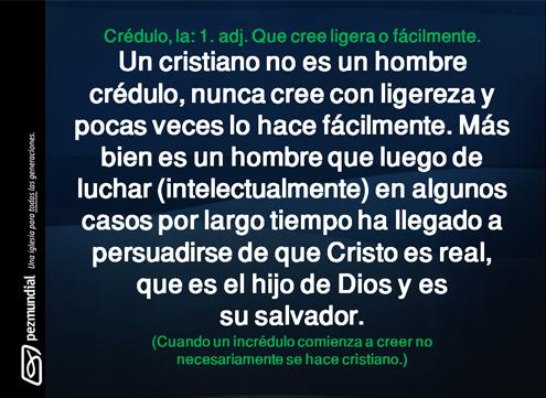 Creer / Ser Cristiano