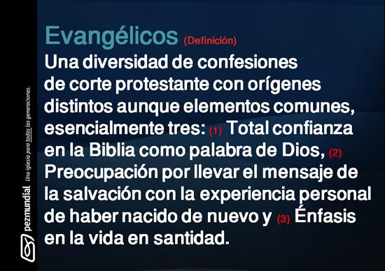 Evangélicos / Significado